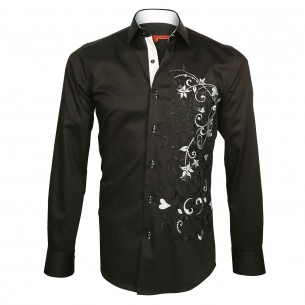 Chemise brodée FLOWERTY Andrew Mc Allister E5AM1