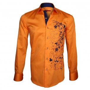 Chemise brodée FLOWERTY Andrew Mc Allister E5AM2