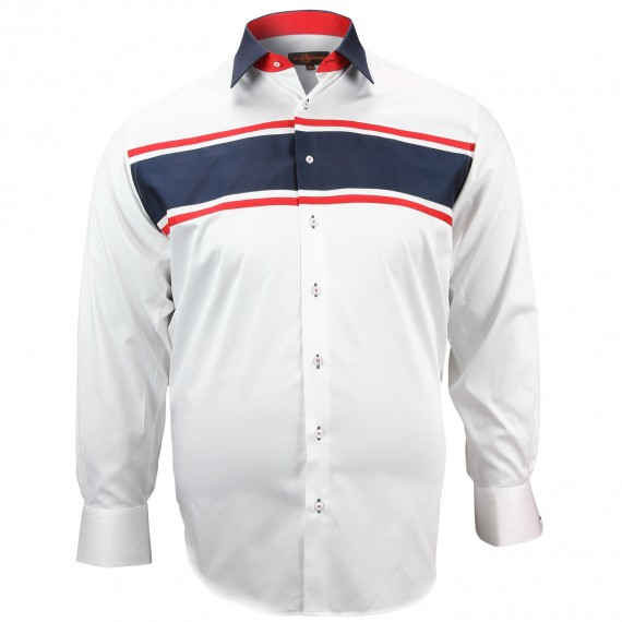 CHEMISE GRANDE TAILLE STRIP Doublissimo GT-K12DB1