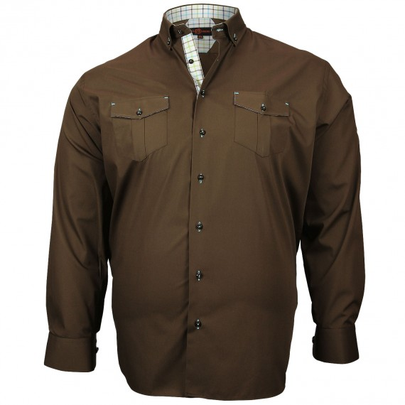 CHEMISE GRANDE TAILLE POCKET Doublissimo GT-M5DB2