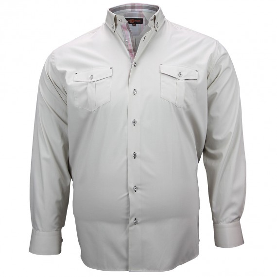 CHEMISE GRANDE TAILLE POCKET Doublissimo GT-M5DB4