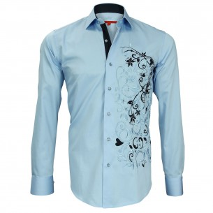 Chemise brodée FLOWERTY Andrew Mc Allister N2AM1