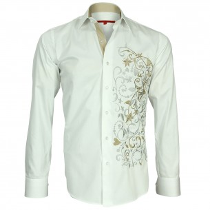 Chemise brodée FLOWERTY Andrew Mc Allister N2AM2