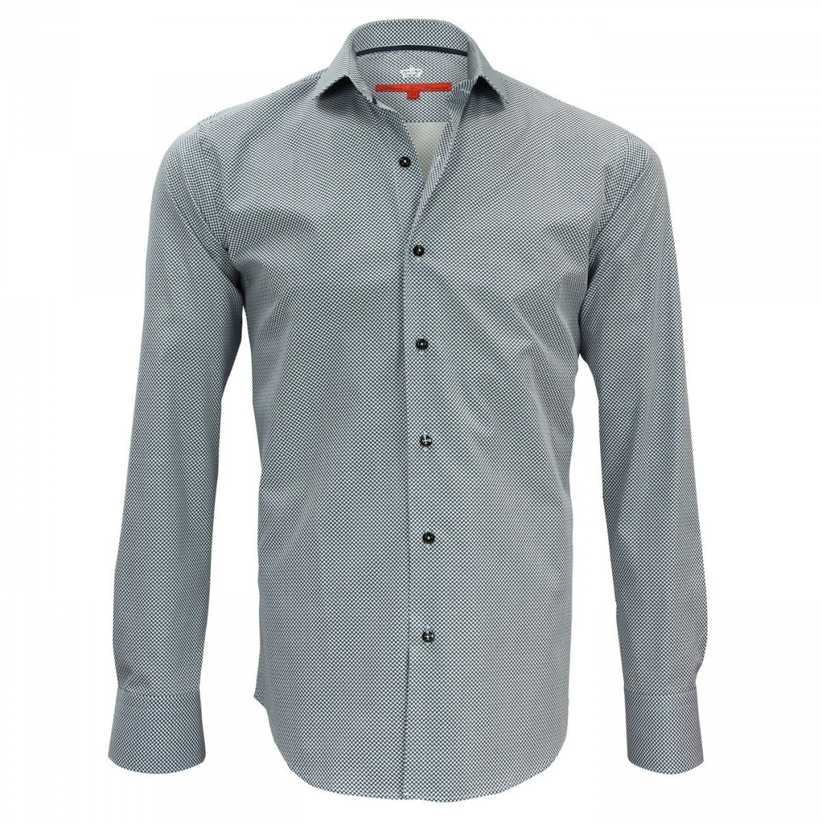 Slim Fitted Shirts N7am2 Stratford Blue Andrew Mc Allister
