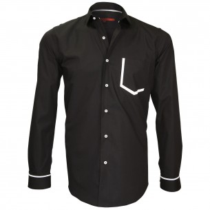 Trendy shirt italian collar