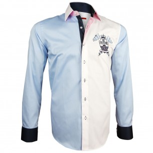 Chemise bicolore bordée BLASON Andrew Mc Allister Y2AM1