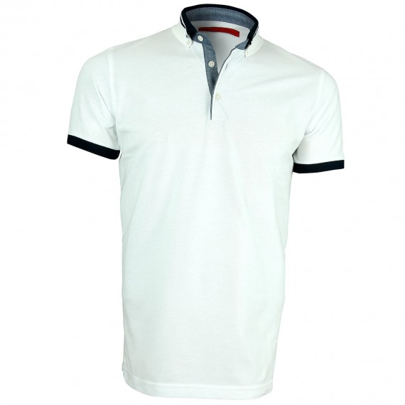 Polo col bicolore STRIPE Andrew Mc Allister Y4066-01