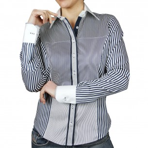 Chemise col blanc PATCHWORK Andrew Mc Allister AF22AM1
