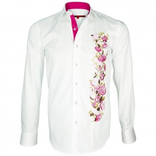 Chemise brodée FOX-ROSE Andrew Mc Allister Q12AM1