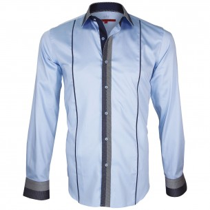 chemise bi-matiere IKSBY Andrew Mc Allister Q17AM2