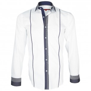 Chemise bi-matiere IKSBY Andrew Mc Allister Q17AM1