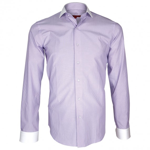 camisa de moda cuello italiano para business man 13d0612be32