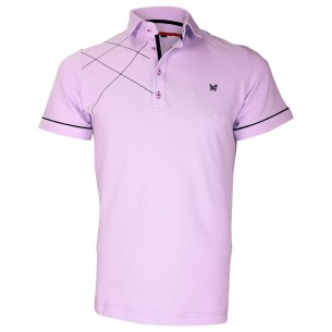 Polo brodéPLYMOUTH Andrew Mc Allister TM3-LILAS