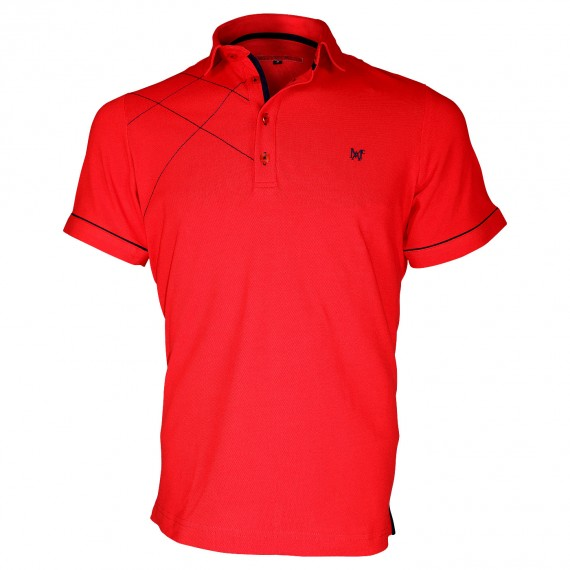 Polo brodéPLYMOUTH Andrew Mc Allister TM3-RED