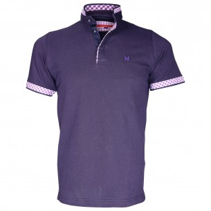 Polo col MaoWALIS BAY Andrew Mc Allister TM2-NAVY