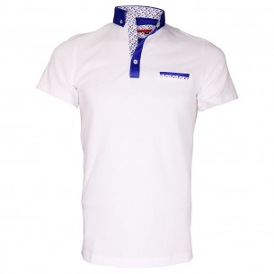 Polo col boutonnéeSTUDLAND Andrew Mc Allister TM5-WHITE
