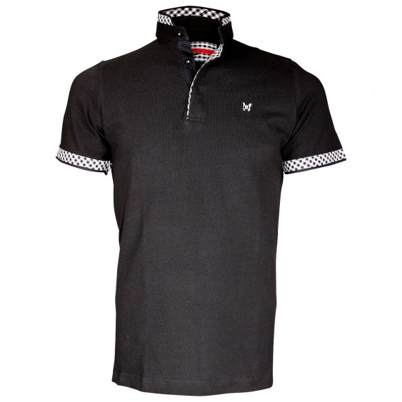 Polo col MaoWALIS BAY Andrew Mc Allister TM2-BLACK