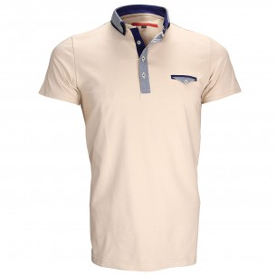 Polo double colJOHN Andrew Mac Allister ZB1-BEIGE