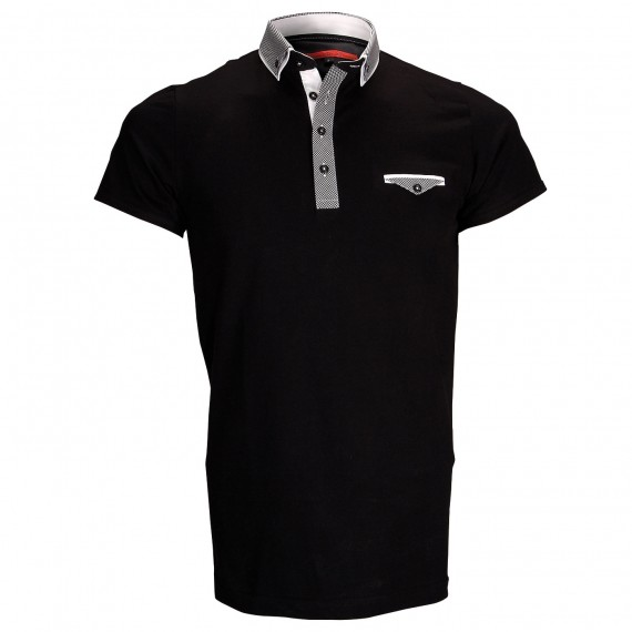 Polo double colJOHN Andrew Mac Allister ZB1-BLACK