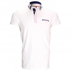 Polo double colJOHN Andrew Mac Allister ZB1-WHITE