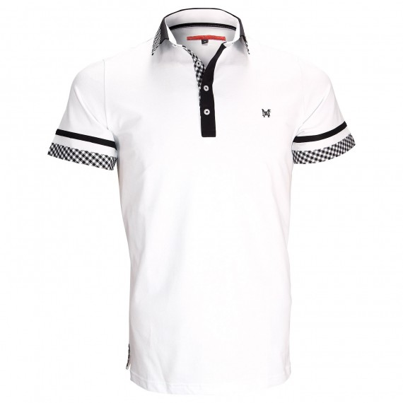 Polo modeRANDY Andrew Mac Allister ZB5-BLANC
